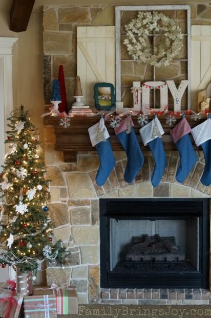 Christmas Mantel 3 familybringsjoy.com