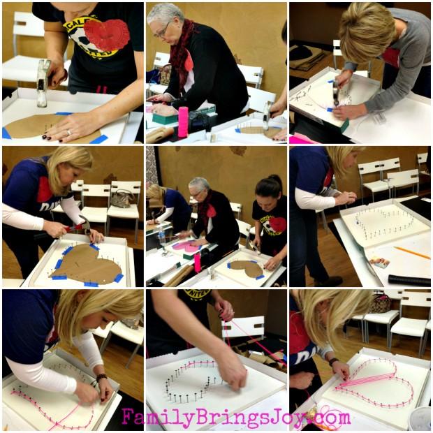Stringed Heart Sculpture Class2 familybringsjoy.com