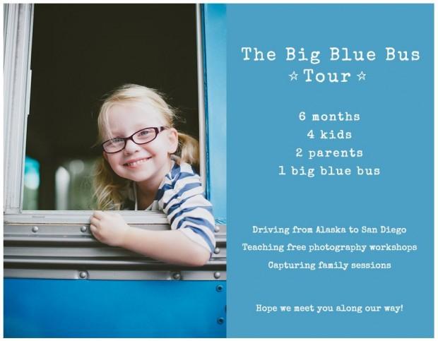 """Amy Earle""""s big blue bus tour"""