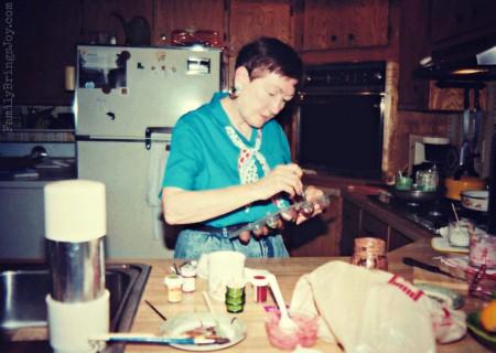 Grandma making candy familybringsjoy.com