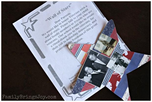 School Veteran's Day letter familybringsjoy.com