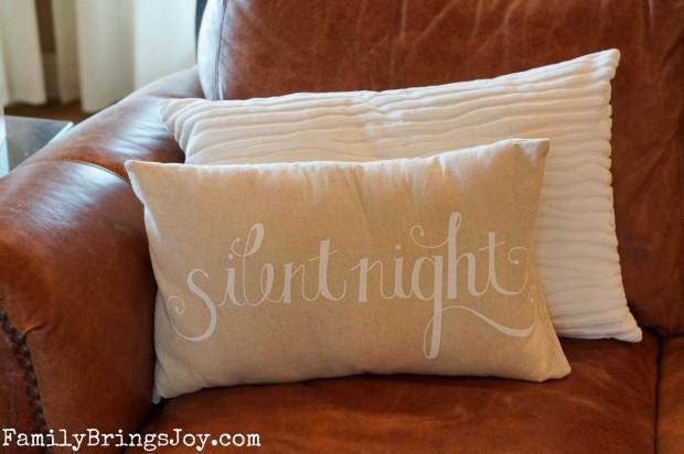Silent Night Pillow familybringsjoy.com