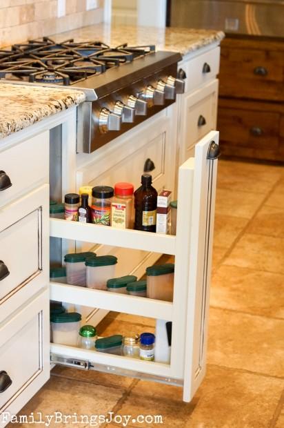 Custom Kitchen Spice Drawer familybringsjoy.com